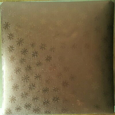 5 Bogen altes hochwertiges  Prägepapier Metallpapier  22 x 22cm  K8