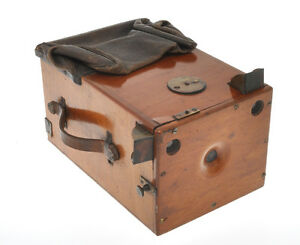 Wooden-unmarked-Detective-Camera-9x12-ca-1895-without-plates-exc