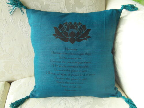 Namaste Inspirational Balinese affirmation cushion cover 6 colours