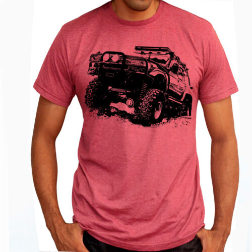 Off Road Fan Toyota Land Cruiser J80 Soft Cotton T-Shirt Multi Colors