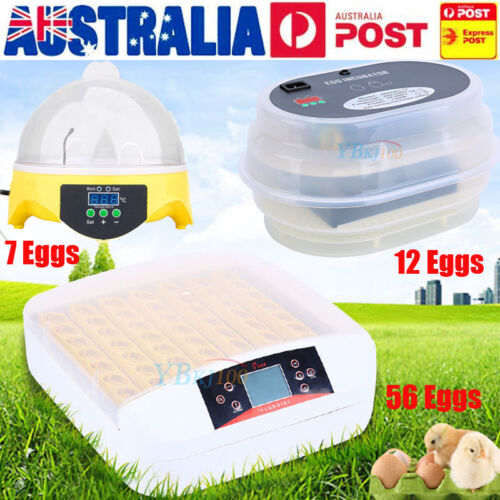FARM DIGITAL AUATIC CHICKEN 7 12 56 EGG INCUBATORS POULTRY FULLY HARCHER AU