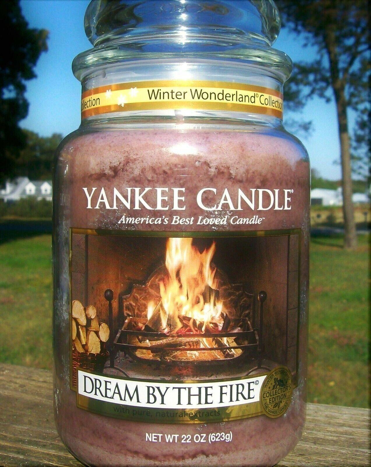 Yankee Candle Winter Wonderland  DREAM BY THE FIRE  22 oz.Weiß LABELRARENEW