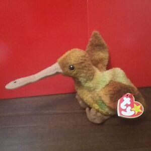 b0f11c125af Image is loading Ty-Beanie-Babies-BEAK-the-Kiwi-Bird-with-