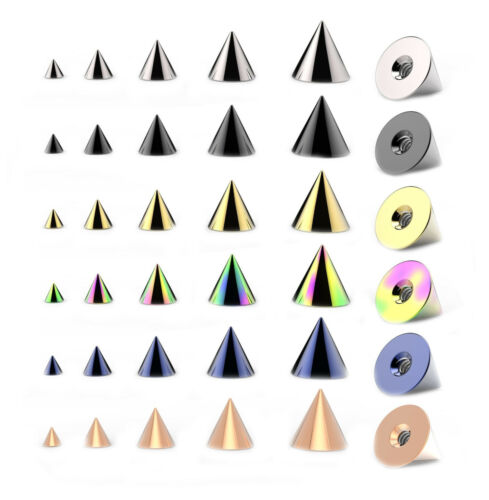 Spare CONES for Piercings Belly Nipple Tragus Labret Tongue Ear Piercings
