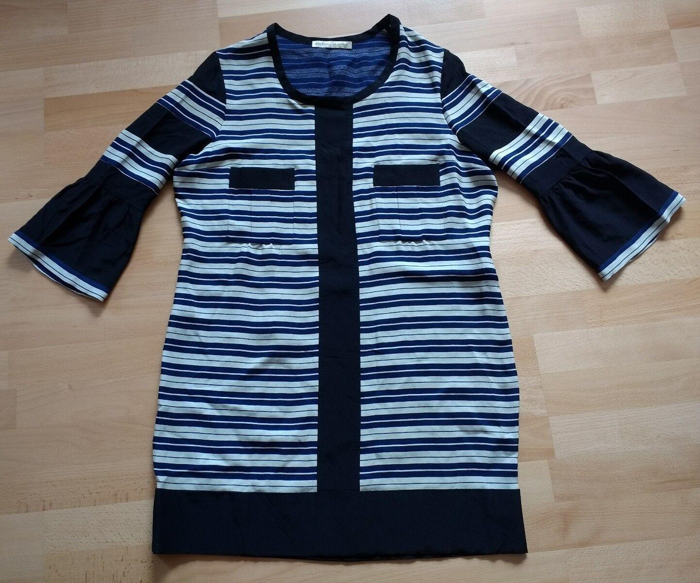 Balenciaga  Tunika Kleid  dress Seide Silk maritim Neu