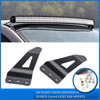 50/52inch Curved Led Light Bar Mounting Bracket For Gmc/chevy Silverado 07-14