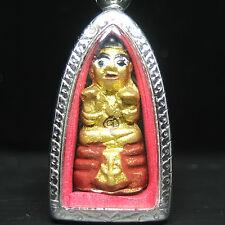 REAL GUMAN THONG LP Dum of Wat Suntidharma, Banthaisamart Village .Thai amulet