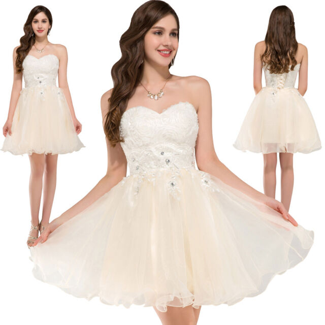 GRACE KARIN Brautjungfer Cocktailkleid Ballkleid Partykleid Abendkleid Minikleid