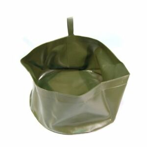 Laver-Recipient-pliable-lavabo-Exterieur-Camping-Olive-psehr-legerement-BW