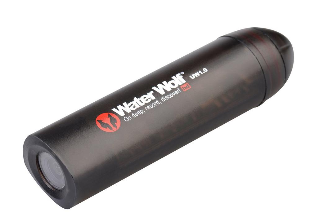 Waterwolf 1.1 Actioncam Water Wolf HD Unterwasserkamera 4 Std. filmen
