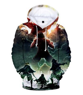 VertrauenswüRdig Shingeki No Kyojin Attack On Titan Kapuzen Sweatshirt Hoodie Pullover Pulli 100% Garantie