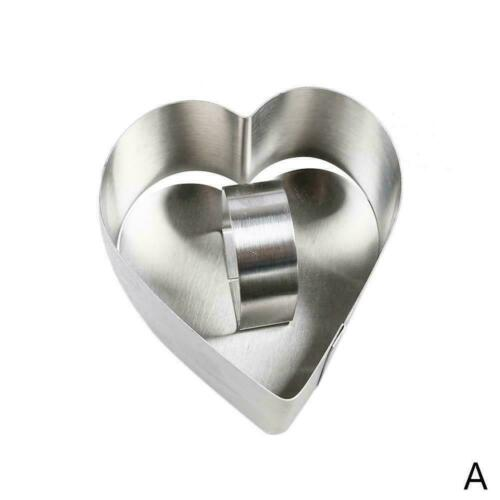 Stainless Steel Mousse Cooking Presentation Dessert Ring Cake Sushi Mould O3K8