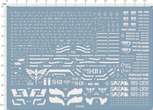 Metal Sticker Detail Up PG MSN-04 SAZABI Ver.Ka Gundam Model Kit Silver 4783