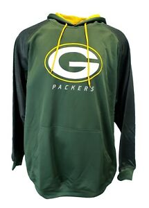 New Mens NFL Majestic Green Bay Packers Pullover Hoodie Green Big ... de65208f9