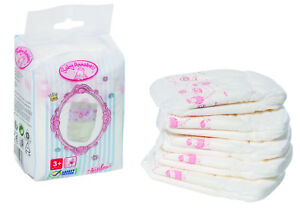 BABY ANNABELL NAPPIES FOR 46CM DOLL ZAPF CREATION ...