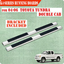 """Fit 04-06 Toyota Tundra Double Cab 4"""" Nerf Bar Running Board Side Step chrome H"""