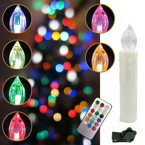 kabellose led weihnachtskerzen lichterkette kerzen christbaumkerzen ebay. Black Bedroom Furniture Sets. Home Design Ideas