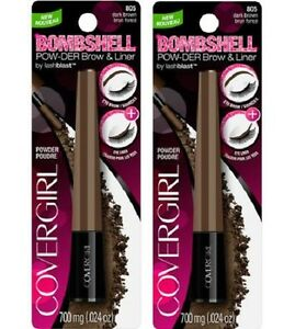 Covergirl-Bombshell-pow-der-Cejas-Forro-por-Lashblast-805-marron-oscuro-Lote-De-2