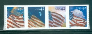 US-4232-35-USA-FLAG-STRIP-OF-4-STAMPS-42-c-ISSUED-2008