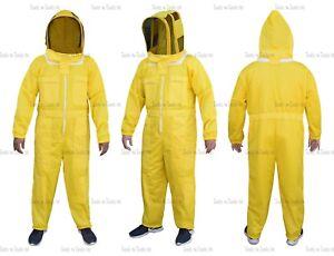 L'abeille ultra ventilée par costume d'abeille de costume d'apiculture de maille jaune de couches de trois couches 7434926241224