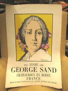 Antiguo-Cartel-Arte-George-Sand-Artista-Trousselle