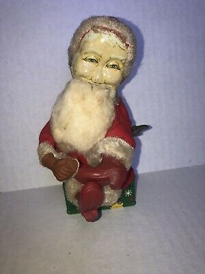 Vintage Santa Windup Toy 1968 Hard Plastic Santa Windup Toy by Dan-Dre Made in New York Collectible Santa