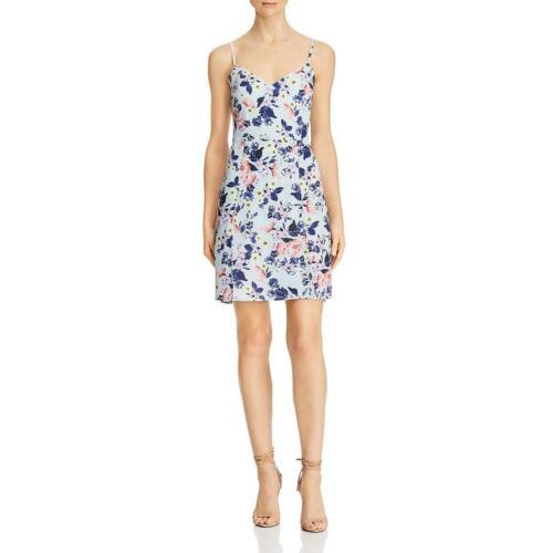 French Connection Womens Verona Floral Faux Wrap Short Mini Dress BHFO 8280