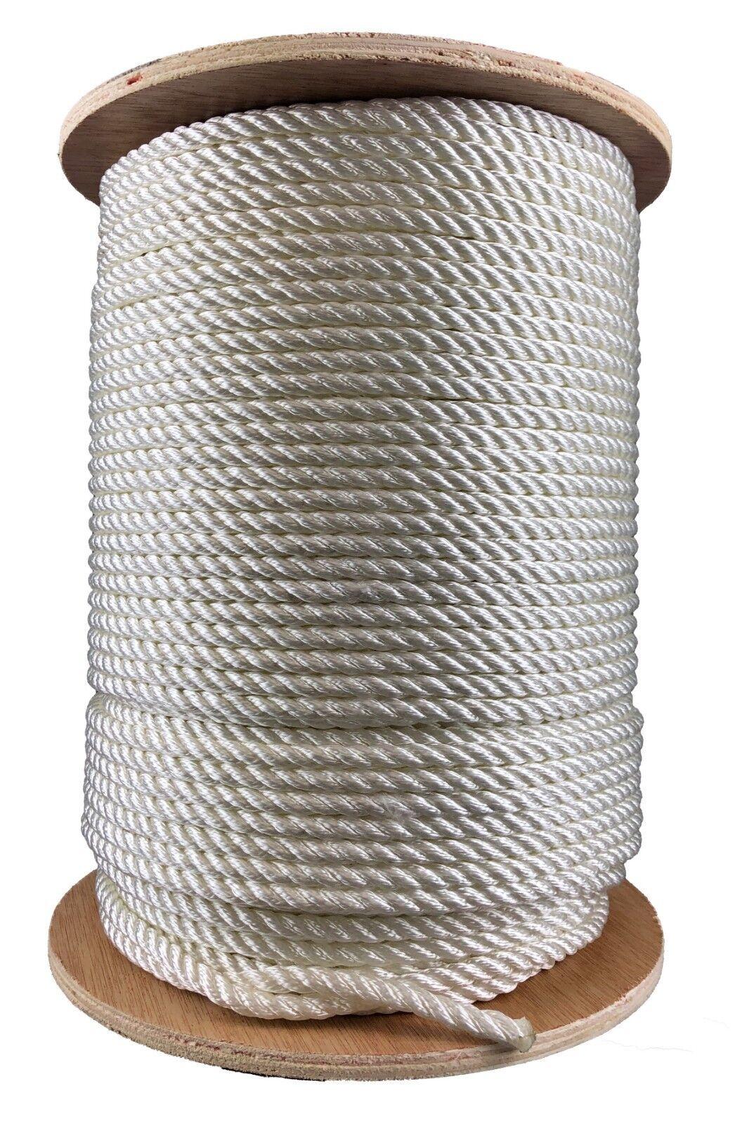 8mm 3 Stränge Weiß Polyester Seil X 50 Meter Meter Meter Qualität Liegeplatz Yacht Stiefel b2c89c