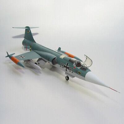 New DIY 1/33 F-104G Star Air Fighter Plane 3D Paper Model