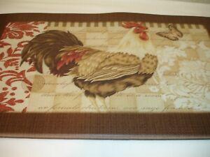 New Farm Rooster Butterfly Floor Mat Kitchen Pool Poly Foam Comfort Ebay