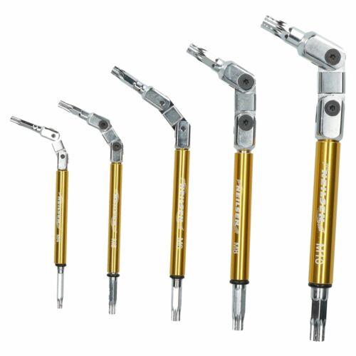Multi Jointed Flexi Spline Key Wrench Set 5pc M4 M10 Multi Angle