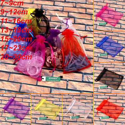 100pcs Multiple Selection With Organza Drawstring Gift Bags Wedding