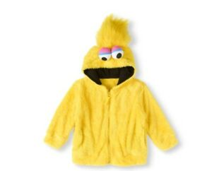 Sesame-Street-Big-Bird-Faux-Fur-Kids-Costume-Hoodie-Size-4T-New-With-Tags