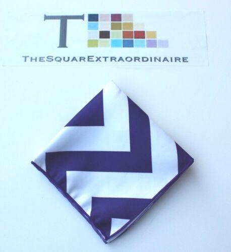 Men/'s Purple Chevron Print With Purple Trim Pocket Square