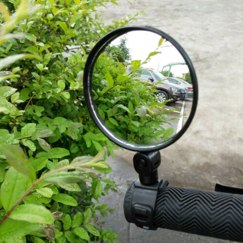 1x Rear View Mirror Flexible Convex 360 Rotating Cycling Bike Bicycles Handlebar