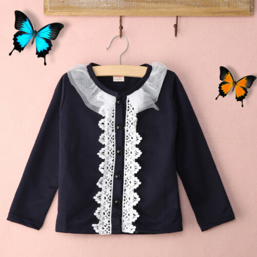Cute Baby Girls Lace Tops Kids Cardigan Outwear Coat Princess Party Clothes 2-7T