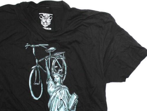 CLOCKWORK GEARS LIBERTY RIDE Men Sm T-Shirt Short Sleeve Black Cotton Crew NEW