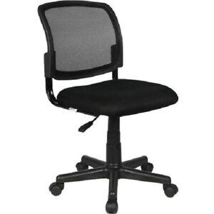 """Chaise-Fauteuil de bureau à roulettes """"Henry"""" - Noir"""