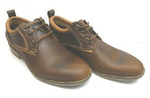 Steve-Madden-Size-7-5-Brown-Leather-Oxfords-New-Mens-Shoes