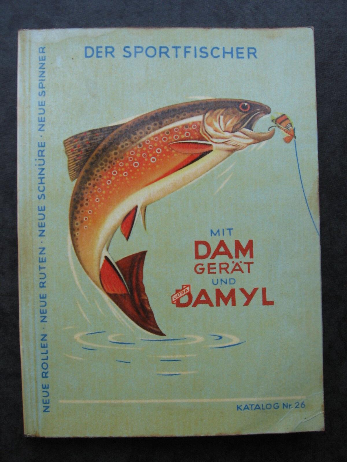 DAM DAMYL Angelgeräte Katalog Nr.26 Angelkatalog von 1958 Angelgerätekatalog