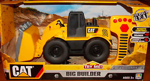 CAT Big Builder Wheel Loader Vehicle R C By Toy State - New in Box