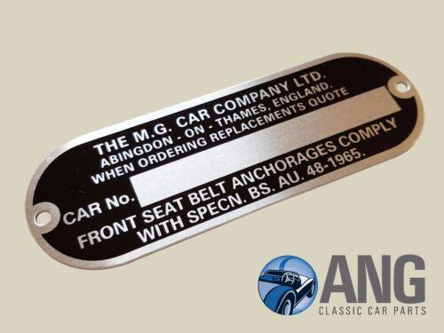 MG 1100 1300 /'62-/'71 /'MG CAR COMPANY/' CHASSIS PLATE