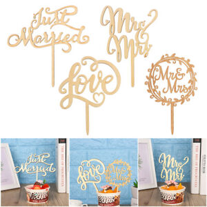 Romantic-Mr-and-Mrs-Cake-Toppers-Wooden-Wedding-Cake-Topper-Party-Cake-Decors