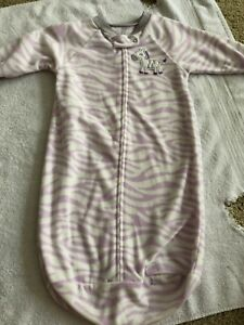 eb536ba85c Details about Carter s 0-9 months baby sleep sack sleeping bag blanket  sleeper purple zebra