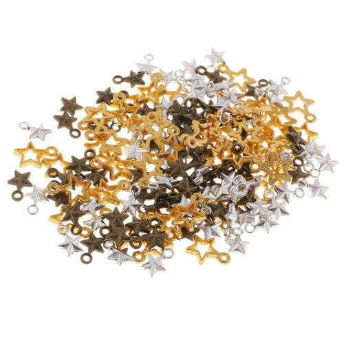 150Pc Mixed Colors Alloy Jewelry Making Charms Star Charms Pendant DIY Craft