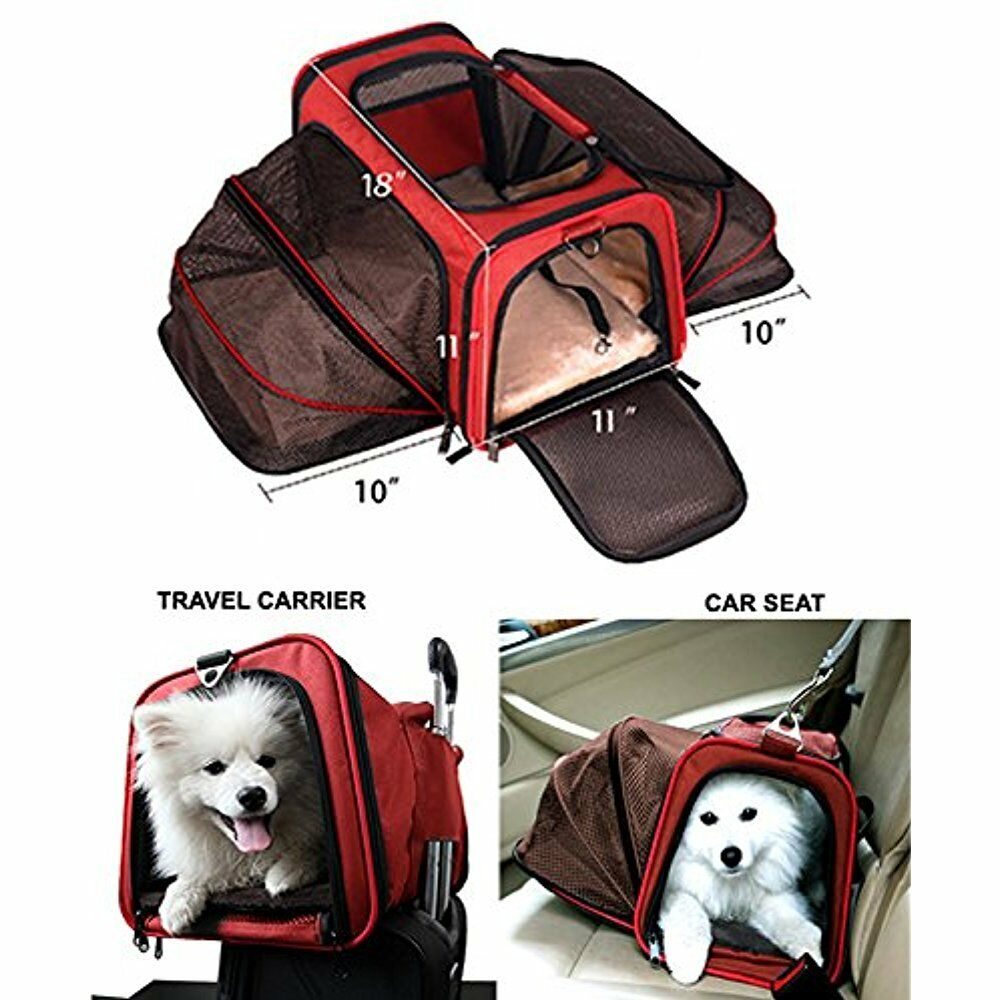 Premium Airline SoftSided Carriers Approved Expandable Pet By Peppy- TWO SIDE