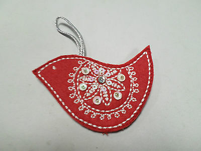Christmas Decoration Hanging Red Bird Pretty Crafts Motif Card Making #22R168