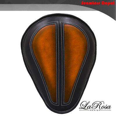 "La Rosa HD Springer Style Custom Solo Seat /& Springs 13/"" Antique Tan Leather"
