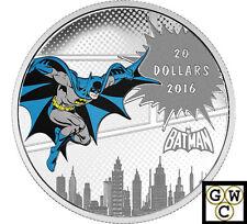 2016 $20 FINE SILVER COIN DC COMICS TM ORIGINALS:-THE DARK KNIGHT TM (NT)(17776)