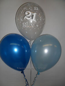 Image Is Loading 30 21st Birthday Party Helium Air Balloons Clear